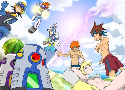 Rock Miyabi's 2016 Megaman Summer Contest Entry by Shadypenpen