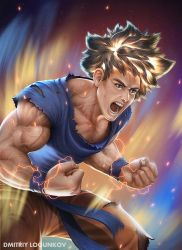 Goku Super Sayan fro the first time by Logunkov
