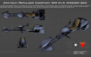 A.R.C. 614-AvA speeder bike ortho [New] by unusualsuspex