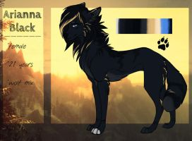Arianna Black - Reference Sheet by Adelish