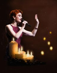 Lisa Vroman: Candlelight by Raphael2054
