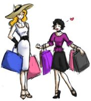 Shopping -Rosalie and Alice by agent-indigo