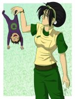 Toph and Baby Lin by blindbandit5