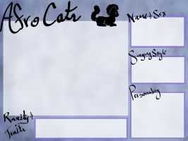 Afro Cats Registration Template by ChocolateQuill