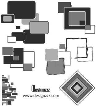 Square shapes brush set by wickedsunny1