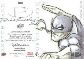Marvel Premier Card - Iron Fist (back) by DKHindelang