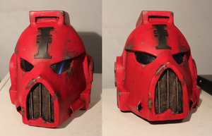 Life-Sized Space Marine Helmet by Skrumpgoblin