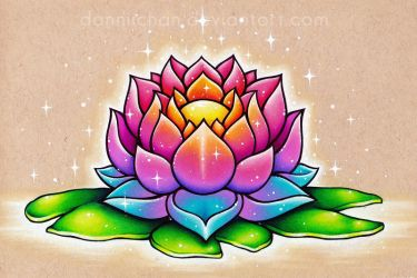 Colorful Lotus by dannii-jo
