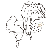 Ponyzation of Bellatrix by WhiteLedy