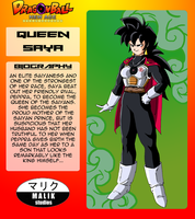 Queen Saya Bio Card by MalikStudios