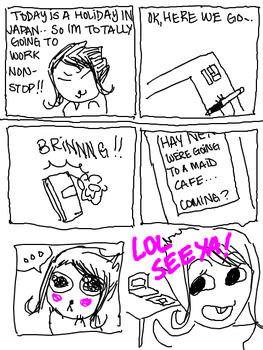 Diary Comic - Maid Cafe by BlinkyTheRed