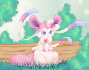 Chibi Sylveon by FinsterlichArt