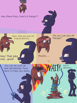 Fnaf silly comic - Foxys Pride part 3 by Maria-Ben