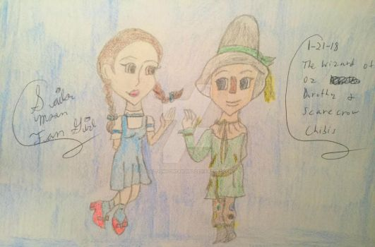Dorothy And Scarecrow Chibis by SailorMoonFanGirl