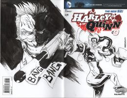 HARLEY QUINN 00 sketch cover by drawhard