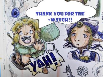 THANK YOU FOR THE +WATCH ---Link and Zelda by evangeline40003