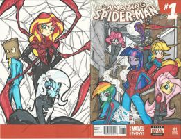Full My Little Spider-Girls Commission by PonyGoddess