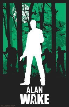 Alan Wake variant poster by billpyle