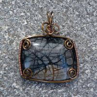 Fall Forest Pendant by magpie-poet