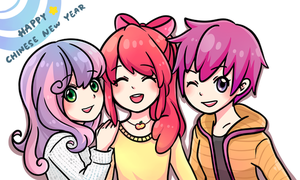 [ MLP ] 2014 Happy Chinese New Year by Foxmi
