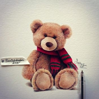 Teddy bear by samiahdagher