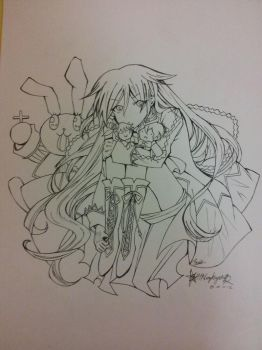 Alice: Pandora Hearts (Lineart) by SHINingkyrstal12