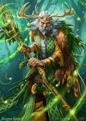 Magnus Ignis - Druid eveolved by PeterLumby