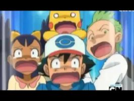 Ash Cilan and Iris get scared by pokefan1234567890