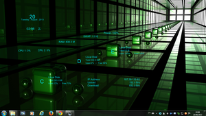 Square Glass Rogers1967 Rainmeter by Rogers1967