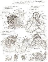 Gamera Sketch Study by RenDragonClaw
