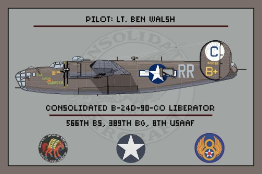 B-24D of the 566th BS, 389th BG by Grevinsky79
