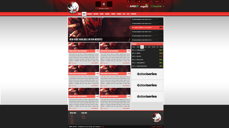 Rhino-Esport webdesign by snowy1337