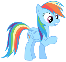 Rainbow Dash Vector - Um, Sorry... by Anxet