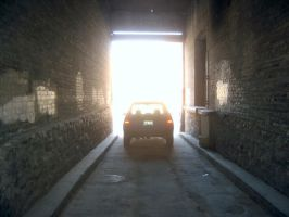 Car at the End of the Tunnel by jpox