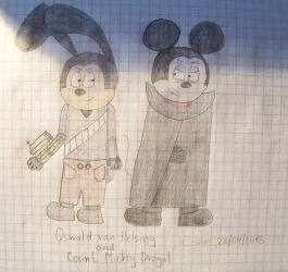 Oswald Van Helsing and Count Mickey Dragul by Savva911