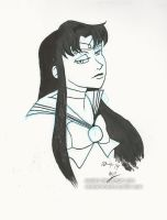 Inktober Day 4 Sailor Mars by Asatira