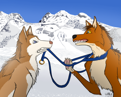 A Wolf does not pull a Sled by WolfKodi