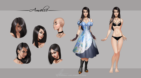 Amelie -reference sheet by AonikaArt