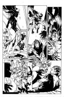 Penciled and inked horror page by bleedinginkprod