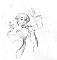 Serial Experiments: Lain Sketc by IndustrialComics