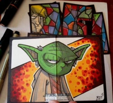 Empire Strikes Back Illustrated - Yoda! by bdeguire
