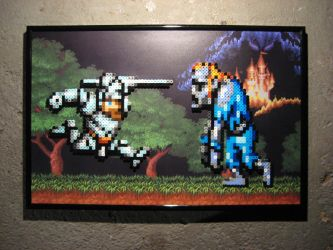 Perler Super Ghouls 'n Ghosts (Arthur) by Dlugo1975