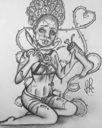 Rose Zombie by Honeycomb1011