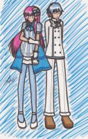 Blue and White Outfits by BlauerMond13