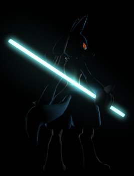 Pokemon 3D: Lucario (Poster 1) by MarkyMarktastic