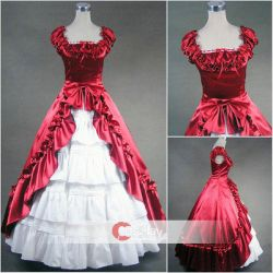 Square Collar Short Sleeves gothic Lolita Dress by wendywei2012