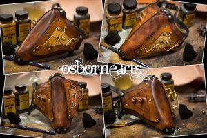 Steampunk Lower Half Mask by OsborneArts
