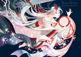 Amaterasu and mirror by mariposa-nocturna