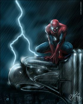 Spider Man and Gargoyle by christiano-bill