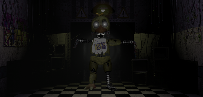 Decayed Withered Chica by MrLazuli